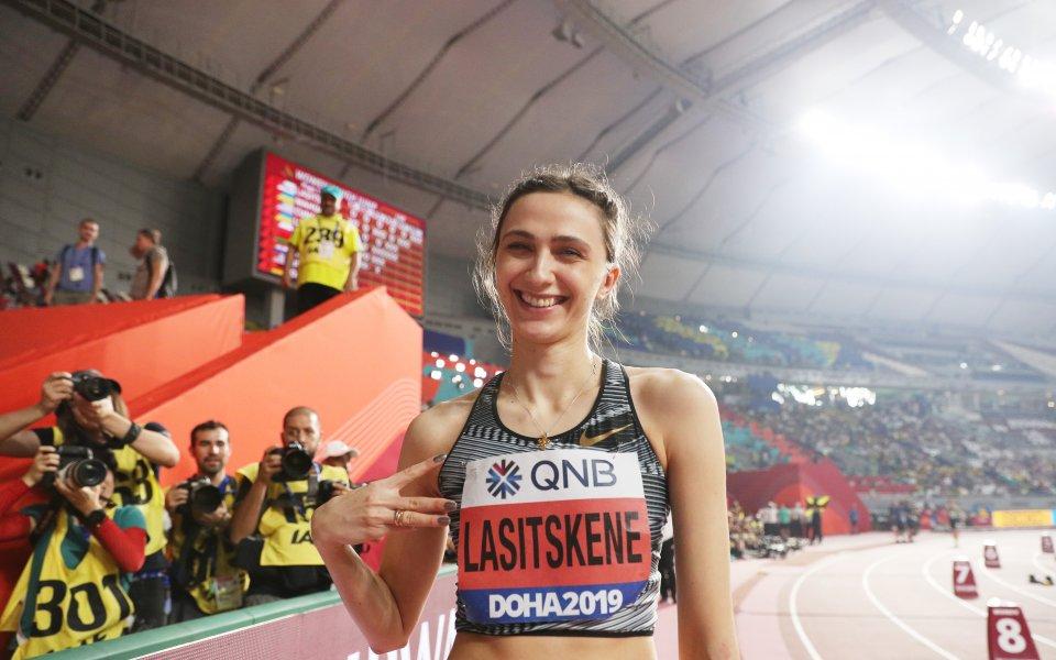 Трикратната световна шампионка в скока на височина - Мария Ласицкене