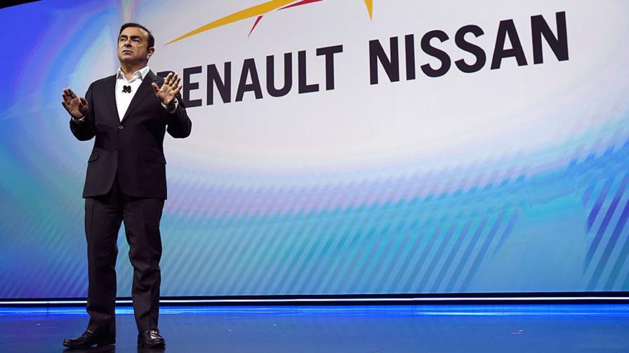 Карлос Гон по време на пресконференцията на Renault-Nissan на 5 януари 2017 г. в Лас Вегас.