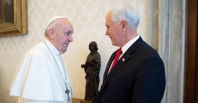 Свят Майк Пенс към папа Франциск: Вие ме направихте герой