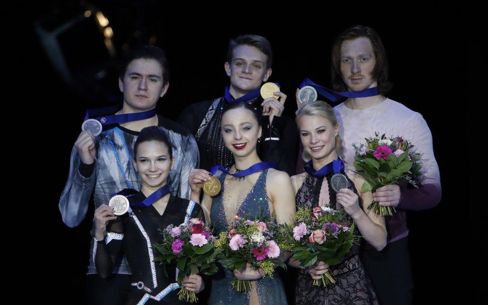 Руски двойки спечелиха всички медали при спортните дуети на европейското