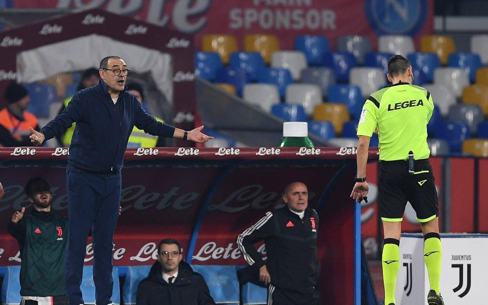 Наставникът наЮвентус- Маурицио Сарине бе изобщо доволен от играчите си