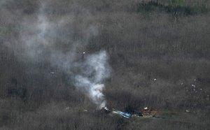 Разбитият хеликоптер на Коби Брайънт