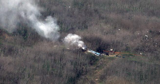 Свят Намериха 9 тела в хеликоптера на Коби Брайънт Хеликоптерът