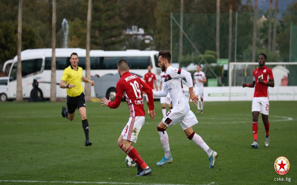 ЦСКА продължава с контролите си по време на подготовката си