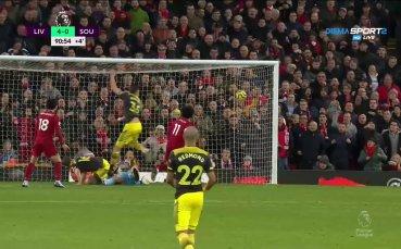 Салах с втори гол, Ливърпул разбива Саутхемптън