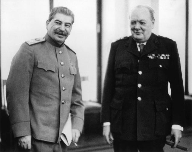 Чърчил Рузвелт и Сталин