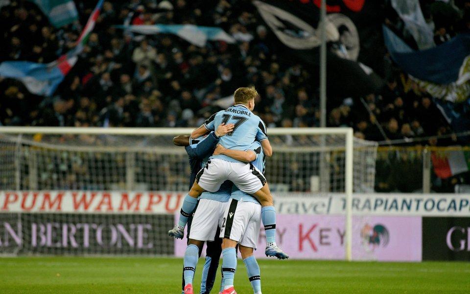 Отборът на Лацио постигна минимална победа с 1:0 като гост