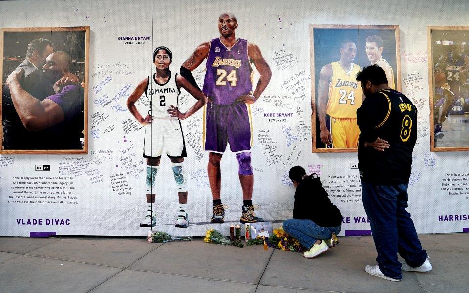 Баскетболната легенда Коби Брайънт и дъщеря му Джиана са били