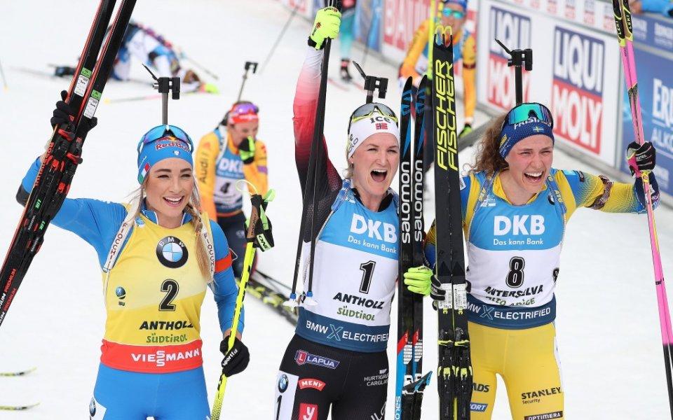 Норвежка триумфира в масовия старт на световното, Тодорова - 28-а