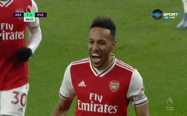 Оба-Оба пак укрили Арсенал срещу Евертън