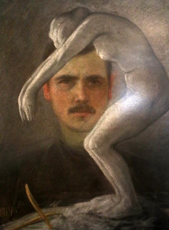 <p>Младият художник и неговото произведение 1914 г.</p>