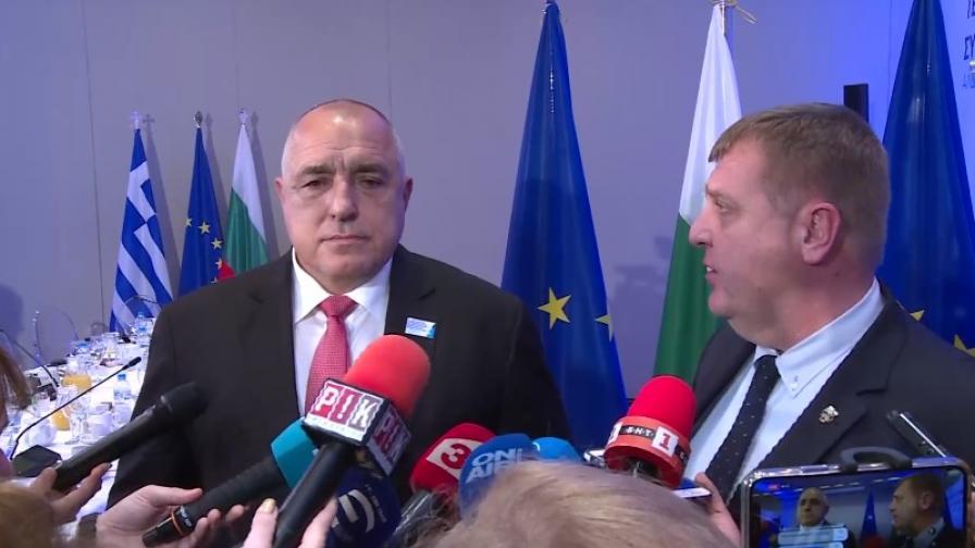 Борисов и Каракачанов за отношенията в коалицията