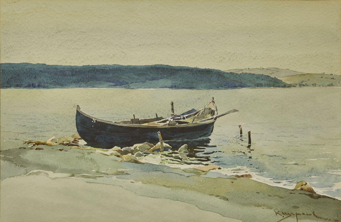 <p>Константин Щъркелов (1889&ndash;1961) Море, 30-те години на ХХ в. акварел върху картон</p>