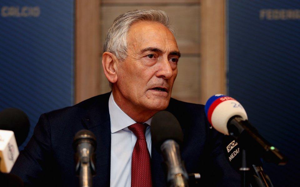 Шефът на италианския футбол има надежда за Серия А