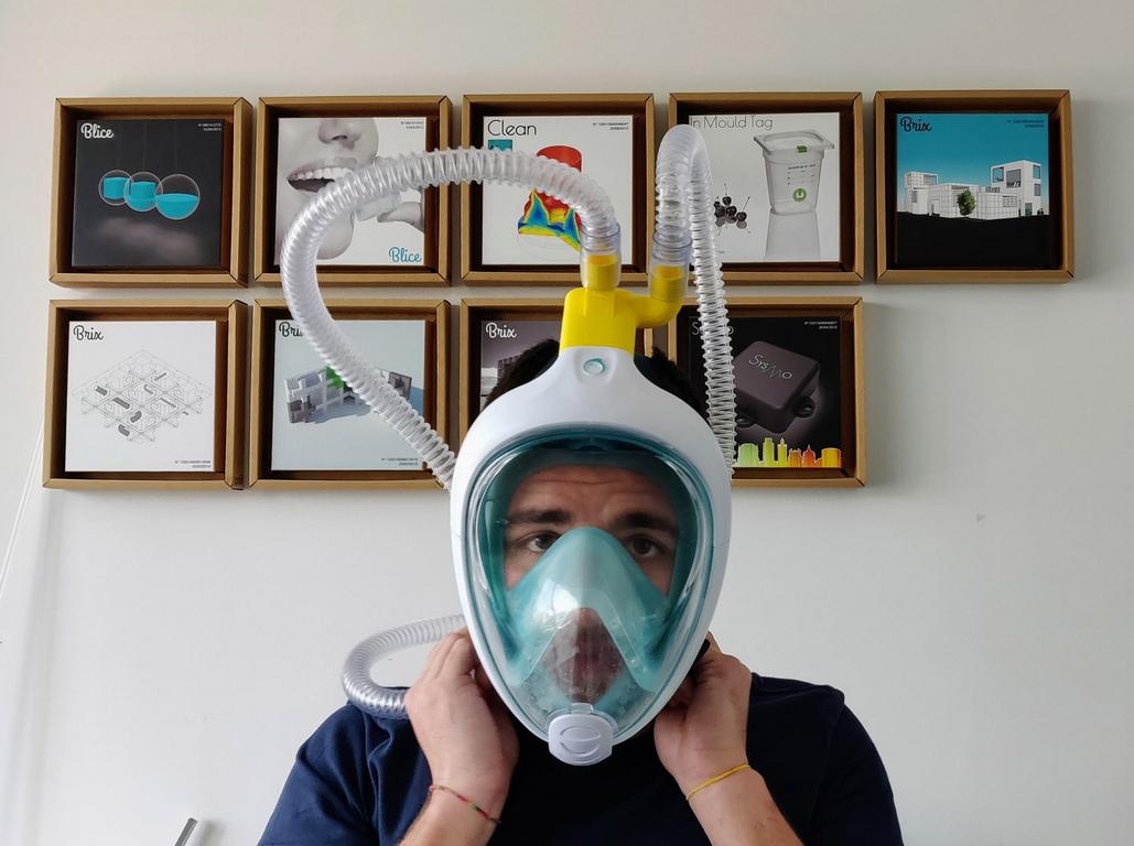 <p>Самата болница е ентусиазирана от идеята и реши да тества устройството на пациенти в нужда. Тестването беше успешно.</p>  <p>На уебсайта на Isinnova има видео урок, който показва как да модифицирате маските</p>