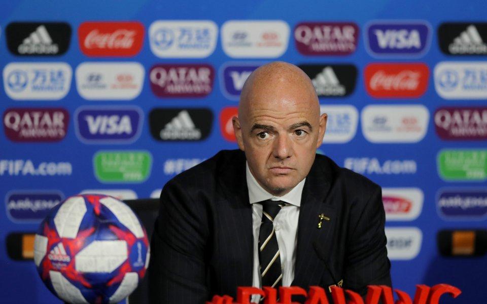 Президентът на ФИФА Джани Инфантино заяви, че пейзажът на футбола