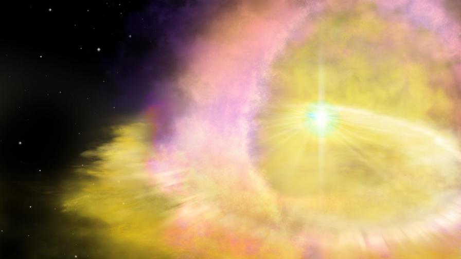 Компютърна илюстрация на суперновата