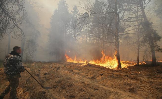 Пожарът край
