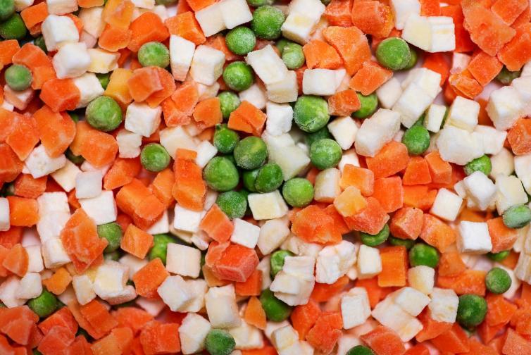 замразени храни зеленчуци