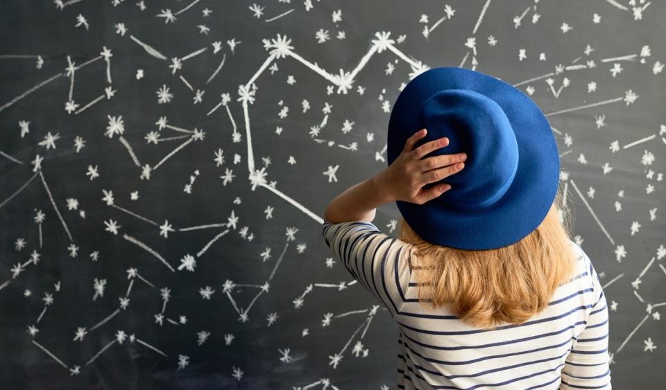 момиче шапка звезди съзвездие астрология зодии хороскоп планети
