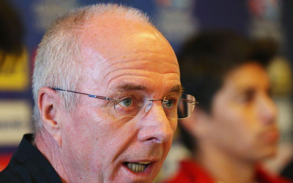 Бившият селекционер на Англия Свен-Горан Ериксон призна, че на моменти