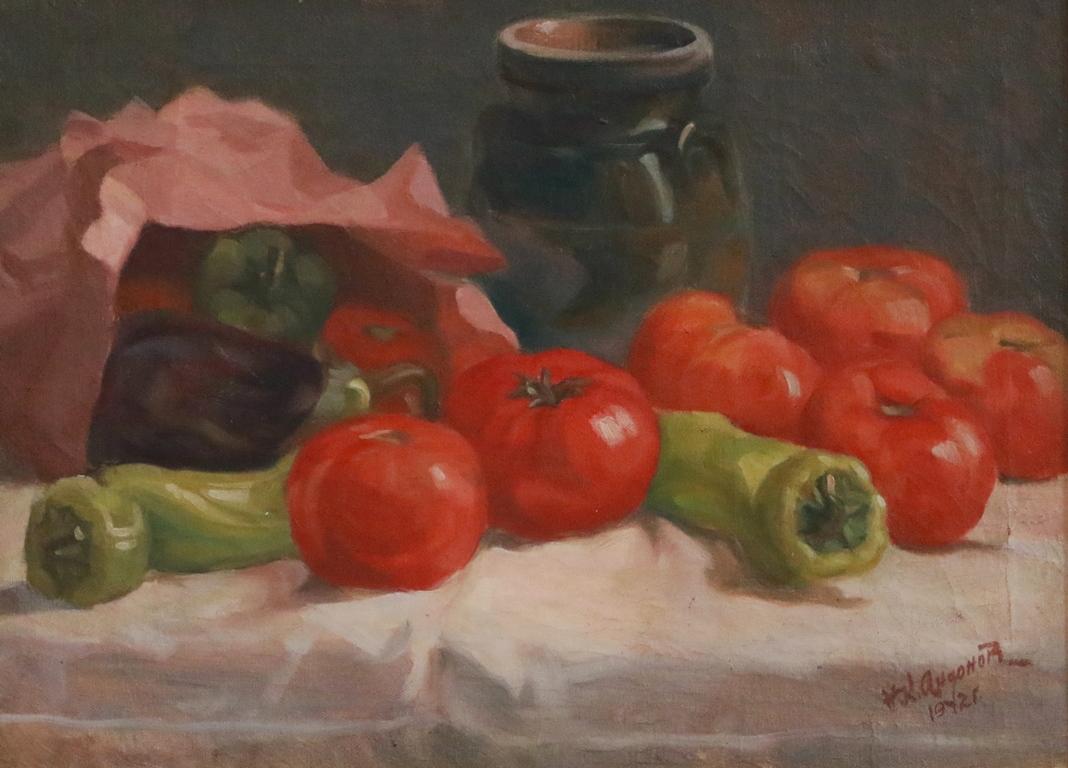 <p>Натюрморт с чушки и домати</p>  <p>Картини на Никола Андонов има в Националната галерия, в галерии и музеи в страната, в държавни учреждения, в Царската колекция.</p>