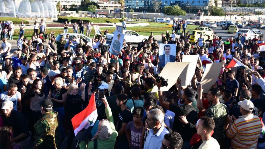 """Хиляди се събраха в Дамаск, за да протестират срещу Акт """"Цезар"""""""