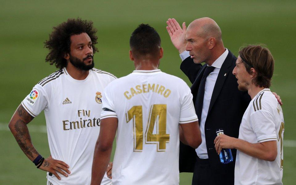 Наставникът на Реал Мадрид Зинедин Зидан е останал изключително недоволен