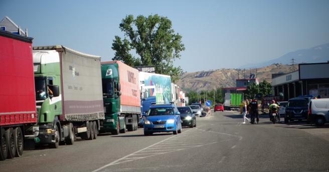 България Колона от автомобили на ГКПП