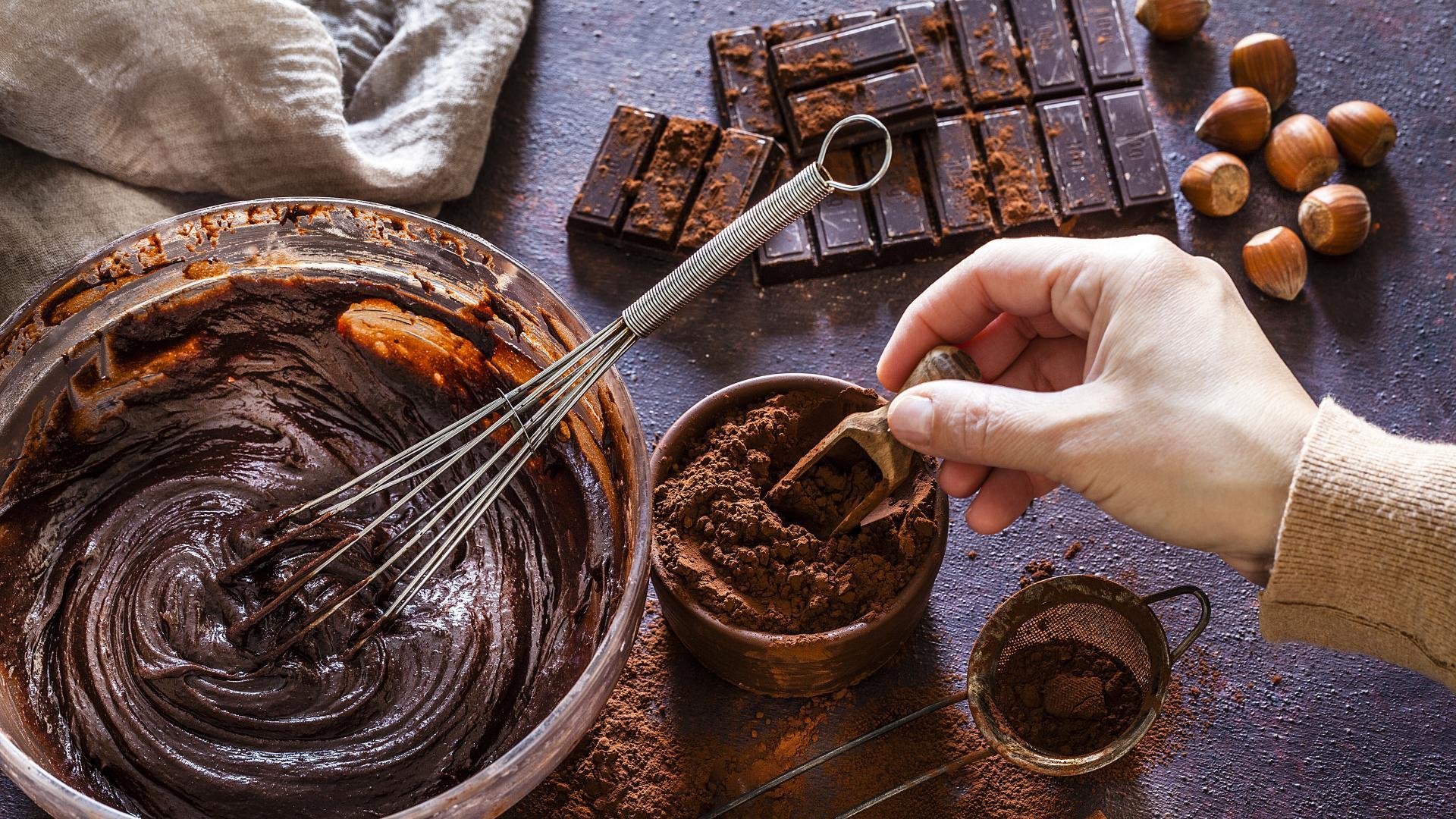 Идея за десерт: Шоколадово брауни с орехи