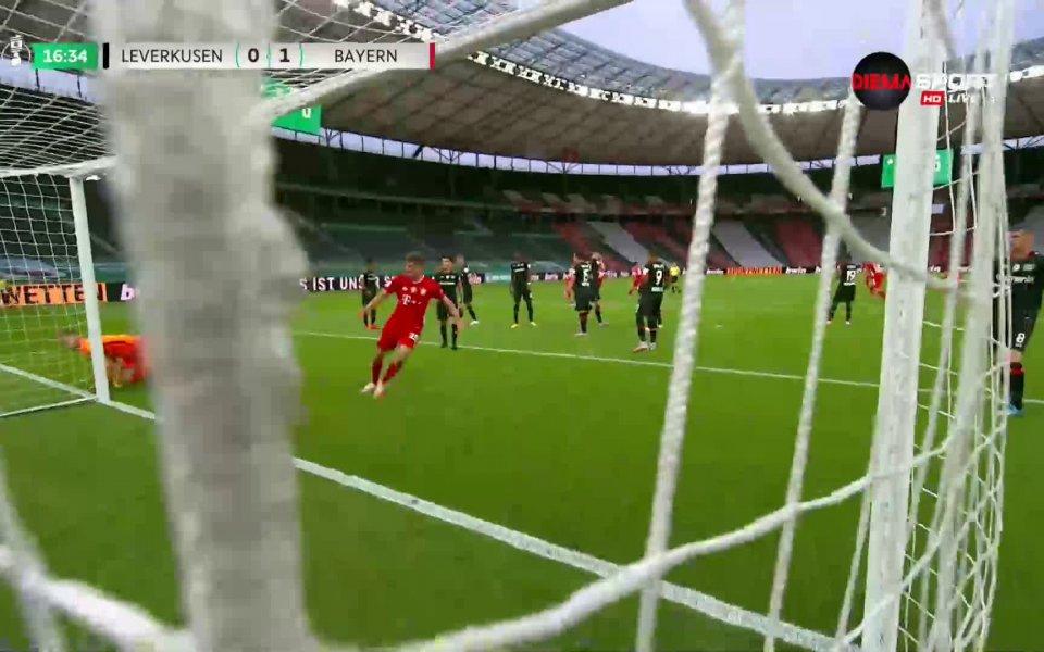 В 16-ата минута Байерн Мюнхен откри резултата. Баварците получиха право