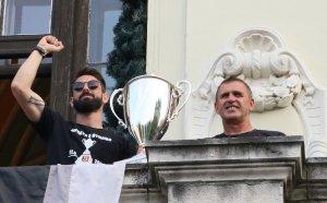 Локо Пловдив вдигна Купата на България в Община Пловдив