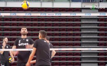 Открита тренировка на националния отбор по волейбол