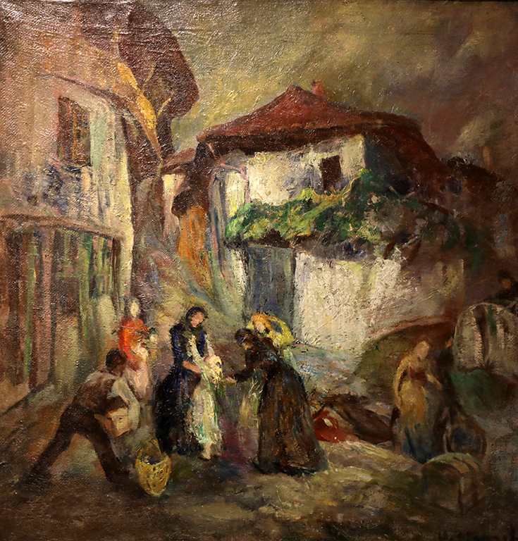 <p>Невена Ганчева (1897 - 1983)</p>  <p>Раздяла, 30-те г. на ХХ в. маслени бои, платно</p>