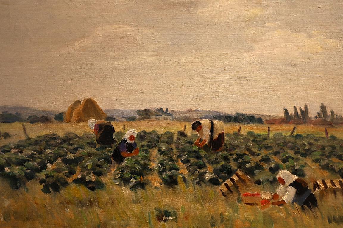 <p>Атанас Тасев (1897 - 1991)</p>  <p>На полето, 1938 маслени бои, платно</p>