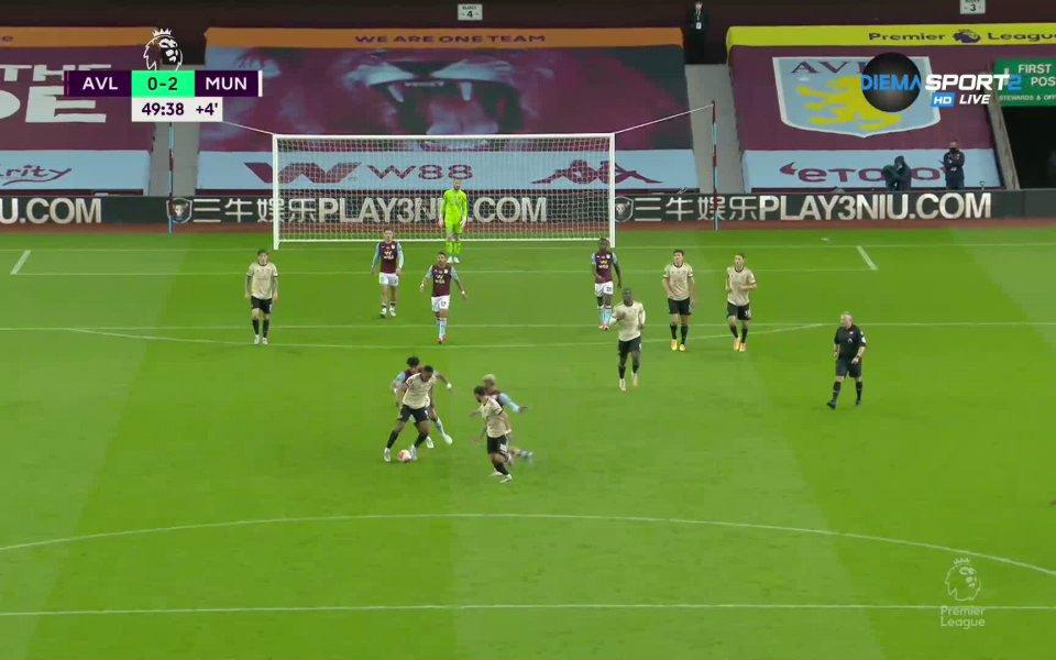 Манчестър Юнайтед поведе с 2:0 при гостуването на Астън Вила