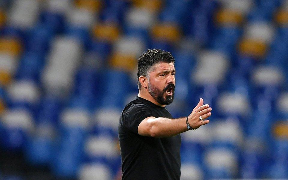 Старши треньорът на Наполи Дженаро Гатузо бе ядосан на своите
