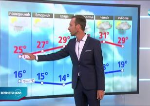 Прогноза за времето (13.07.2020 - обедна емисия)
