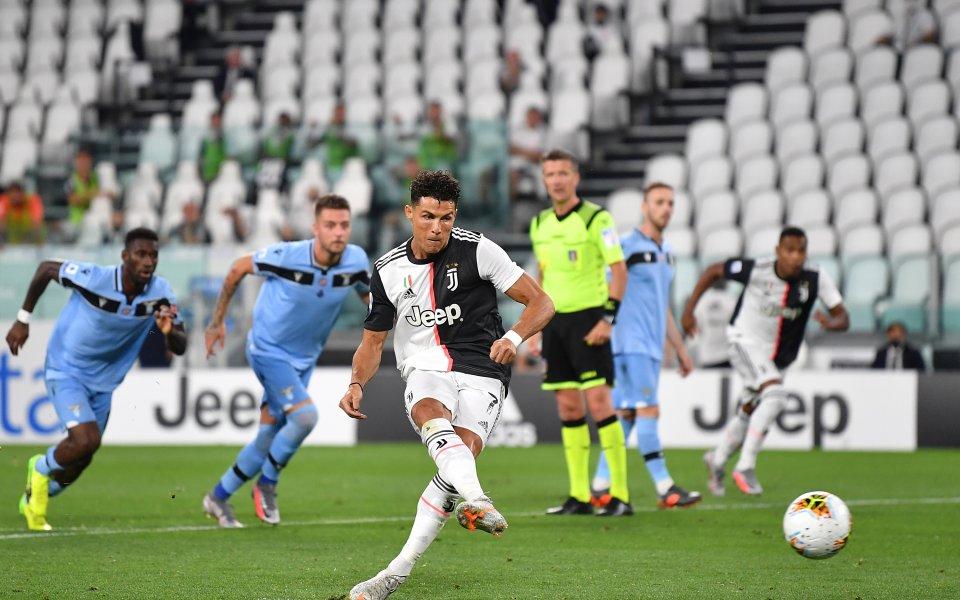 Роналдо отново над всички, Юве докосва нова титла след бой срещу Лацио
