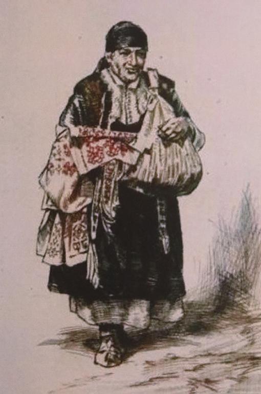 <p>Изображение на картината &quot;Продавачка на софийски шевици&quot; на Петър Морозов</p>
