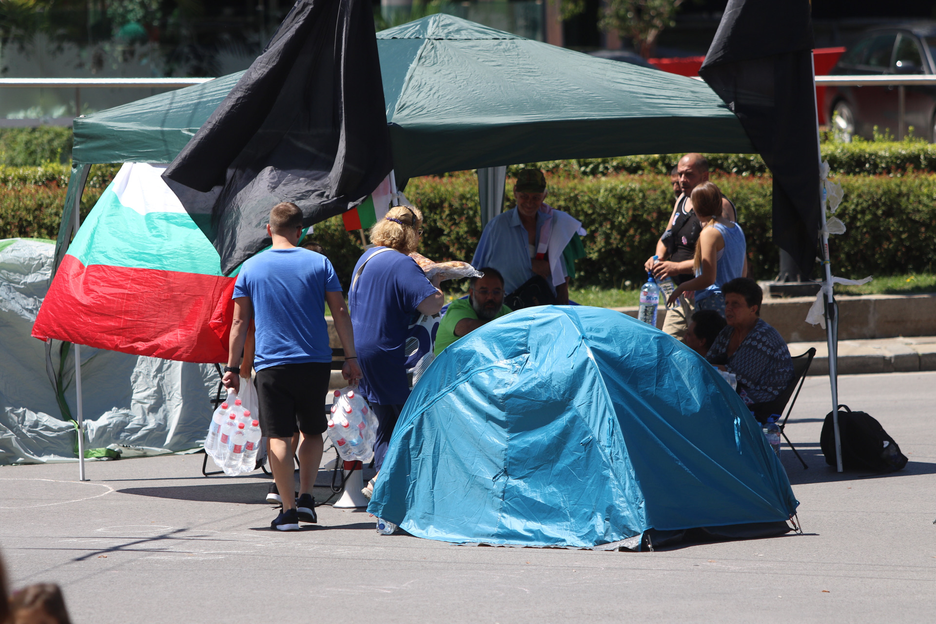 Блокади на кръстовища в София