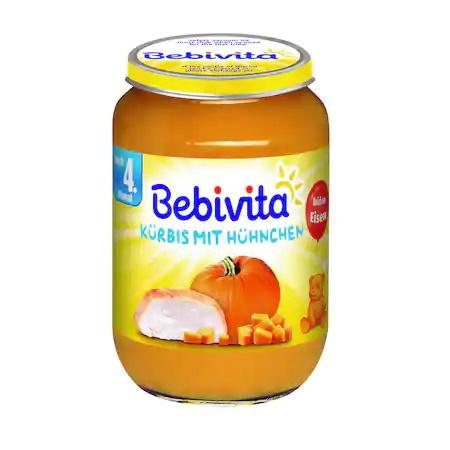 Пюре Bebivita, Тиква и пилешко, 190g