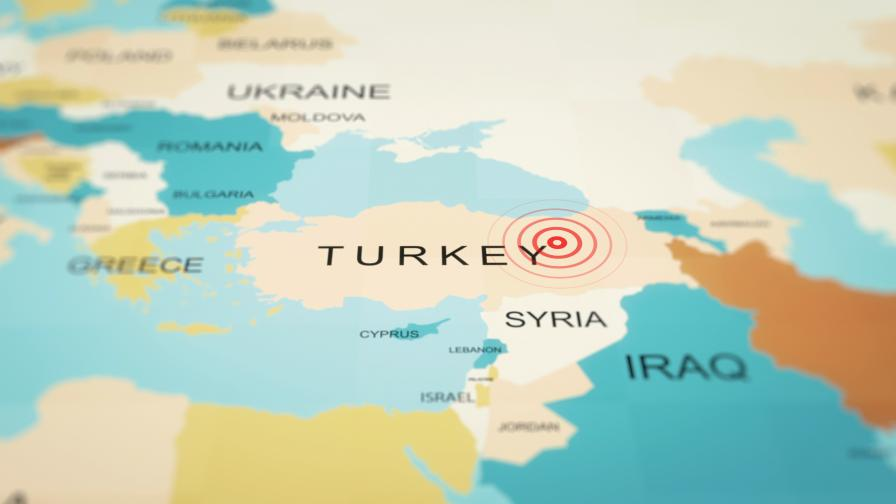 Силно земетресение в Югоизточна Турция