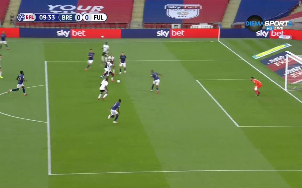 Отборите на Брентфорд и Фулъм се оттеглиха при резултат 0:0