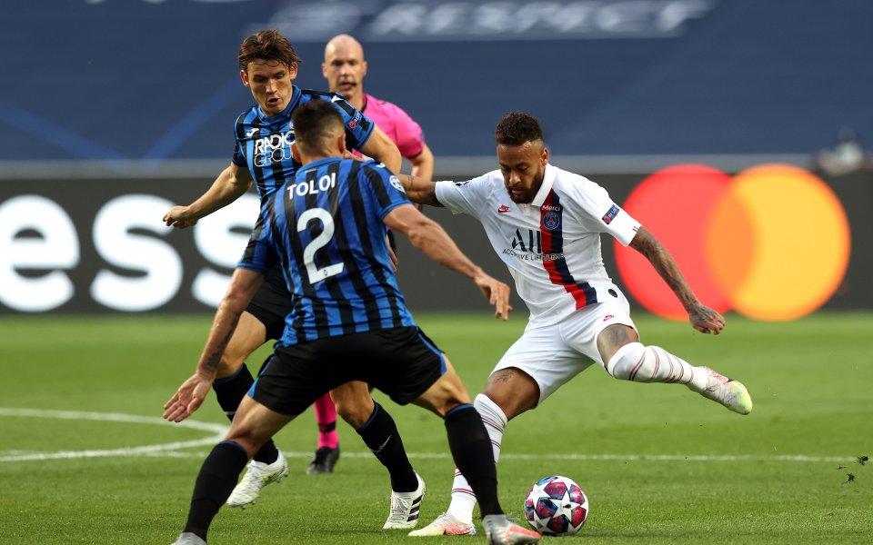 Аталанта и Пари Сен Жермен играят при резултат 0:0 в