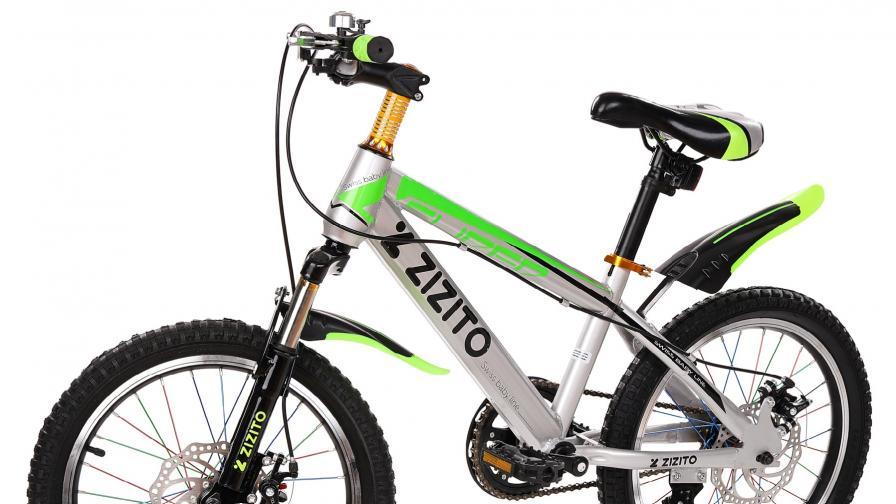 "Детски велосипед ZIZITO Lucas 18"" – швейцарски дизайн с SGS сертификат за безопасност"