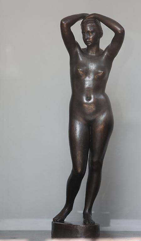 <p>Андрей Николов (1878-1959), Етюд на женско тяло, 1925, бронз</p>  <p>Andrey Nikolov (1878-1959), Study of a Female Figure, 1925, bronze</p>