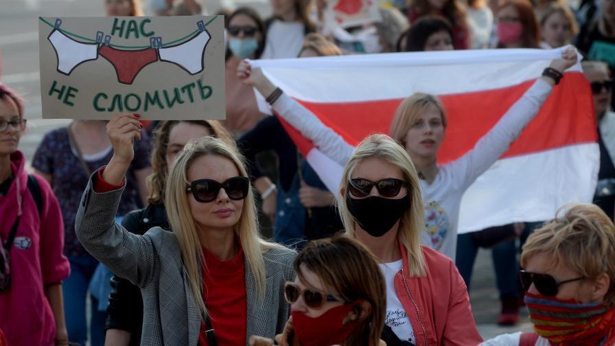 Десетки арестувани на антиправителствен митинг в Беларус