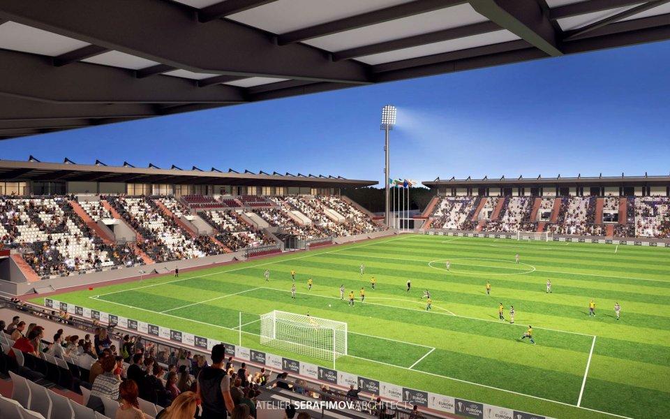 """Впечатляващ проект за стадион """"Локомотив"""" е изготвил един от участниците"""