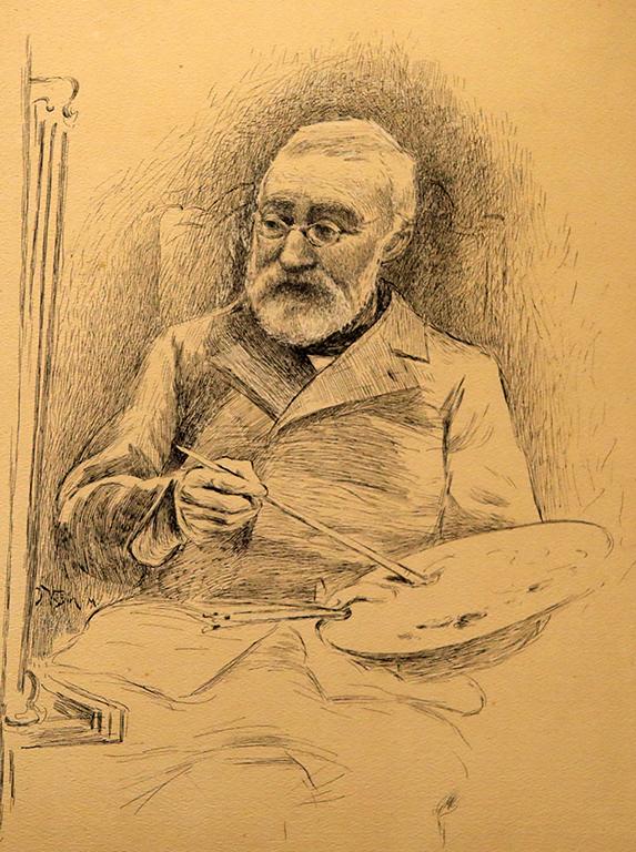 <p>Ярослав Вешин, Автопортрет / около 10-те години на XX век</p>